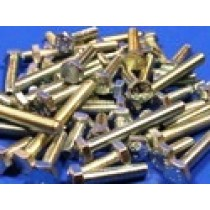 """Pack of Assorted Zinc Plated 1/4"""" UNC Bolts (approx 50 pcs)"""