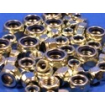 Pack of Assorted Zinc Plated UNC Nyloc Nuts (approx 50 pcs)
