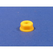"1/4"" Yellow Nylon Numberplate Nut"