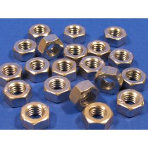 M5 Zinc Plated Hexagon Nuts (pack of 20)