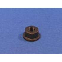 "1/4"" Black Nylon Numberplate Nut"
