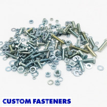 Pack of Assorted Zinc Plated Metric Bolts, Nuts and Washers (approx 300 pcs)